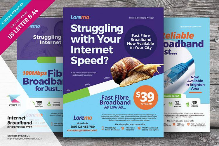Internet Broadband Flyer Templates example image 1