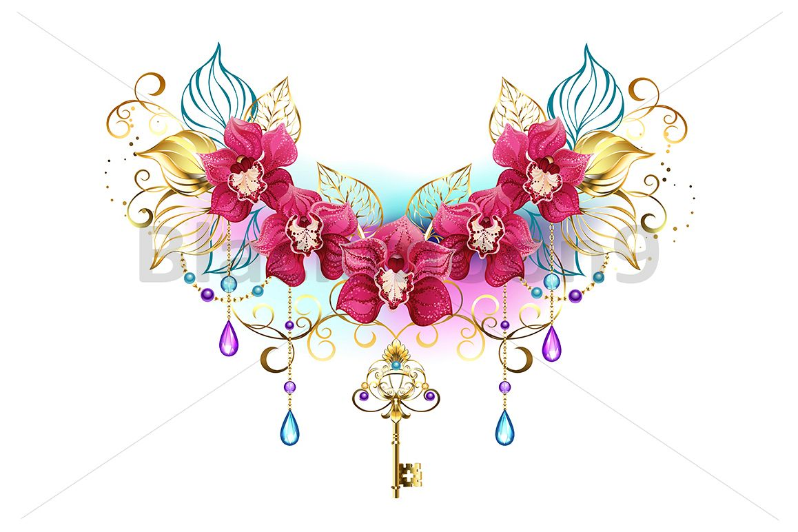Orchids with Beads example image 1