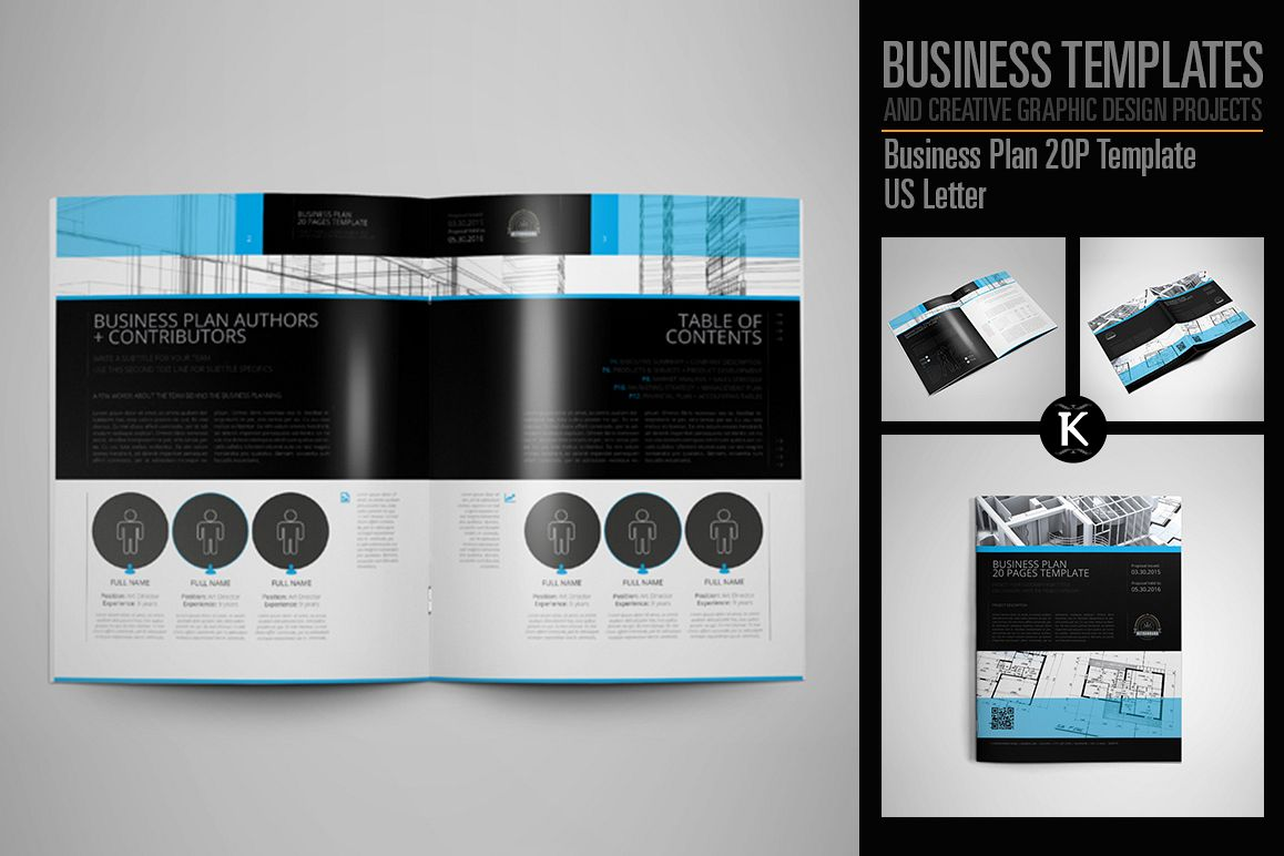 Business Plan 20P Template US Letter example image 1