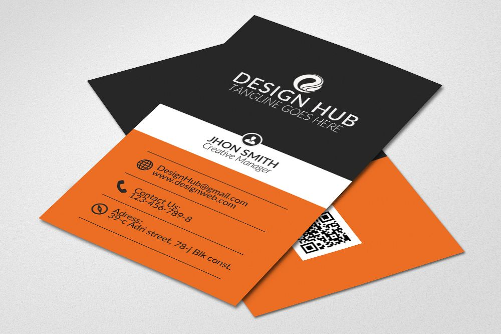 Vertical Business Cards Design example image 1