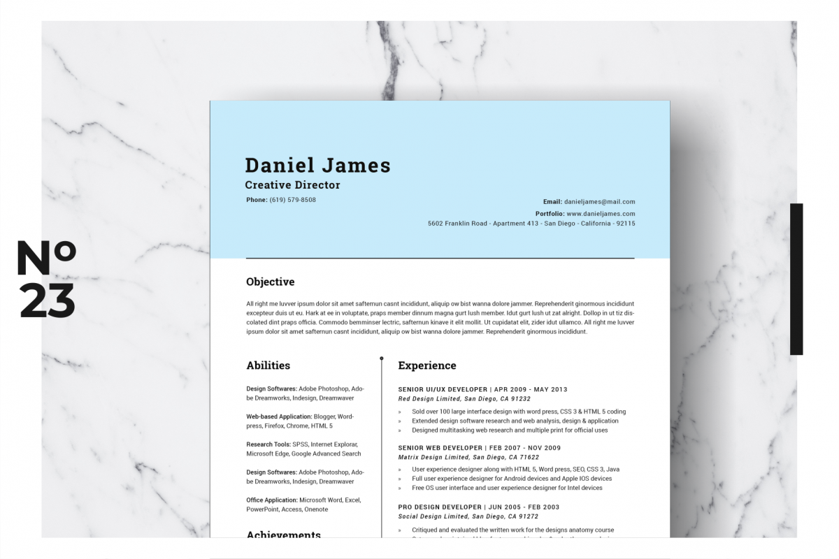 Resume Template Vol. 05 example image 1