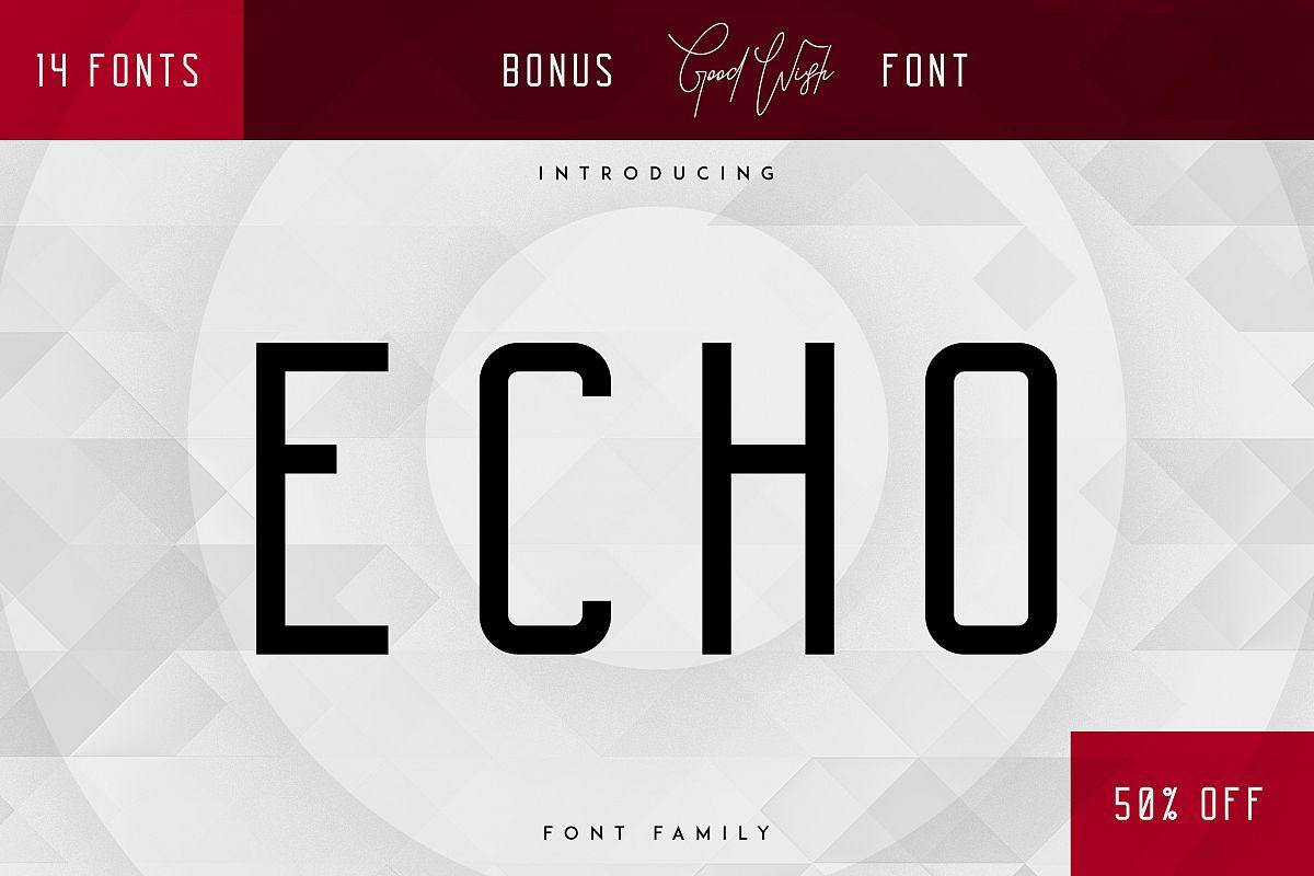 Echo 14 Font Family + Bonus example image 1