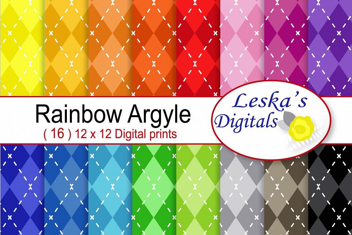 Argyle Digital Scrapbook Paper example image 1
