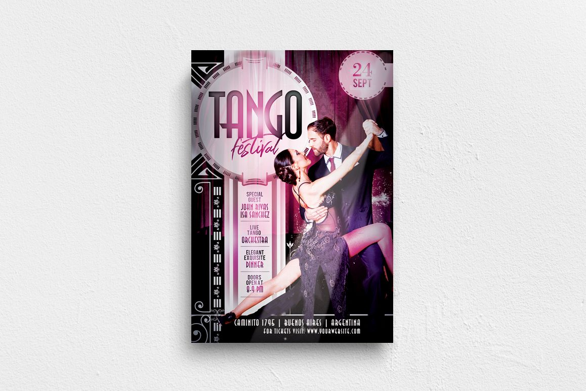 Tango Festival Flyer example image 1