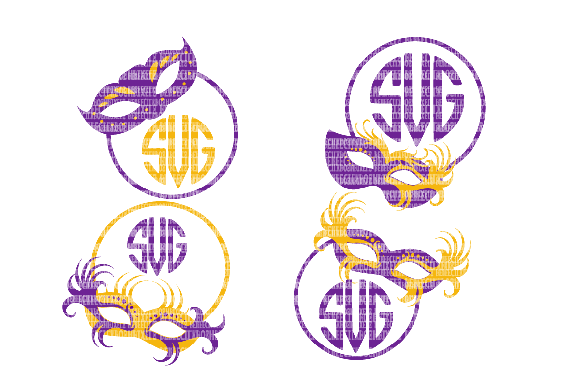 graphic about Printable Monogram Stencil named Mardi Gras Monogram Frames SVG Information For Cricut SVG Data files For Silhouette DXF For Cricut Printable Iron-Upon Go Industrial Hire Clipart Stencil