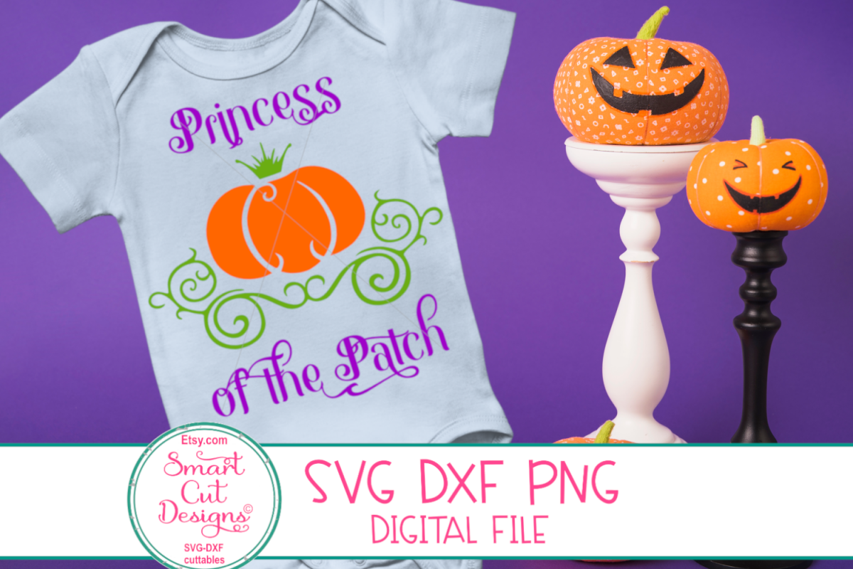 Princess Of The Patch SVG, Pumpkin Princess, Carriage, Crown example image 1