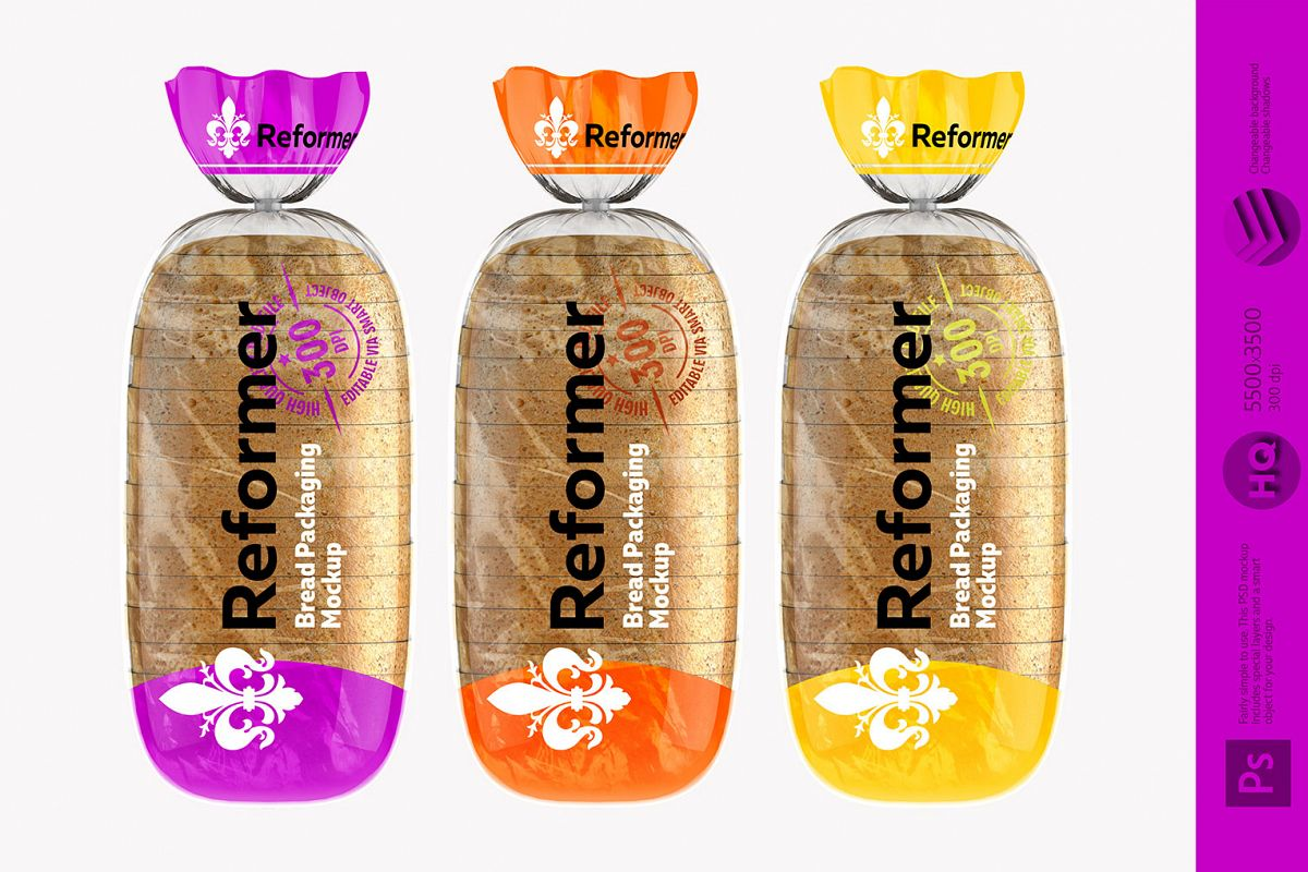 Bread package / 2 Mock-Ups presentation files example image 1