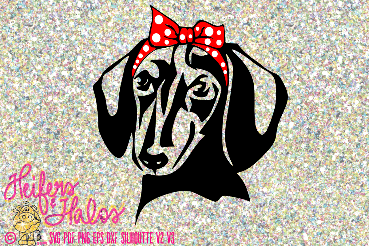 Dachshund doxie with bow and bandana digital file example image 1