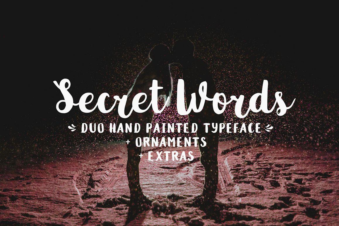Secret Words Font Duo + Bonus example image 1