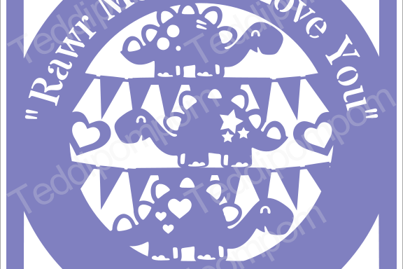 Boys SVG, Rawr Means I Love You Papercut SVG Cutting File Cricut & Silhouette Cameo, Dinosaur T Rex Template, Scrapbooking, Card Making,Digital Upload example image 1