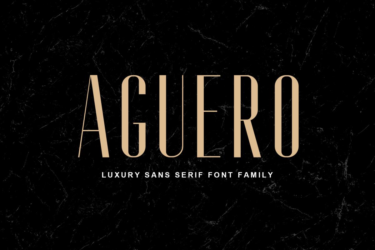 Aguero Sans - Font Family example image 1
