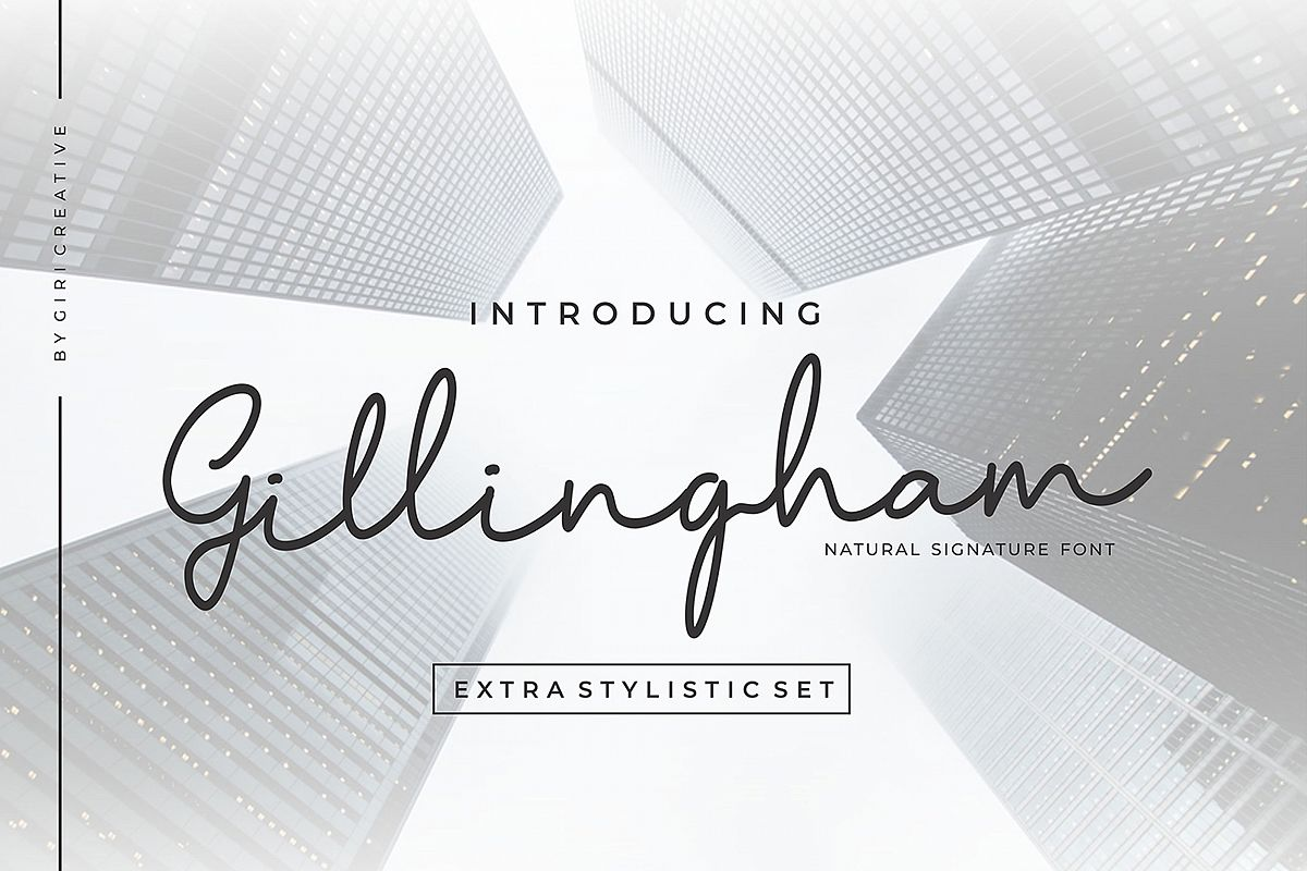 Gillingham - Signature Font example image 1