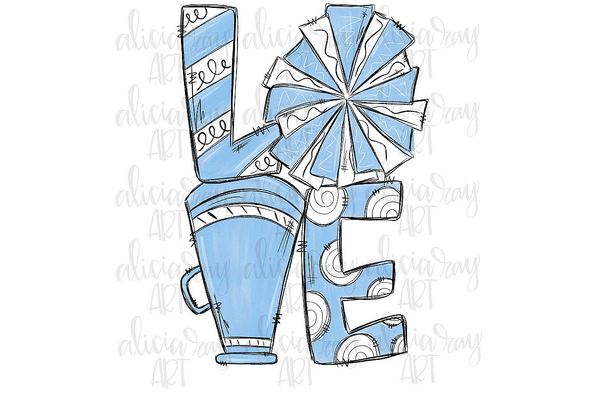 Cheer Love Powder Blue and White example image 1