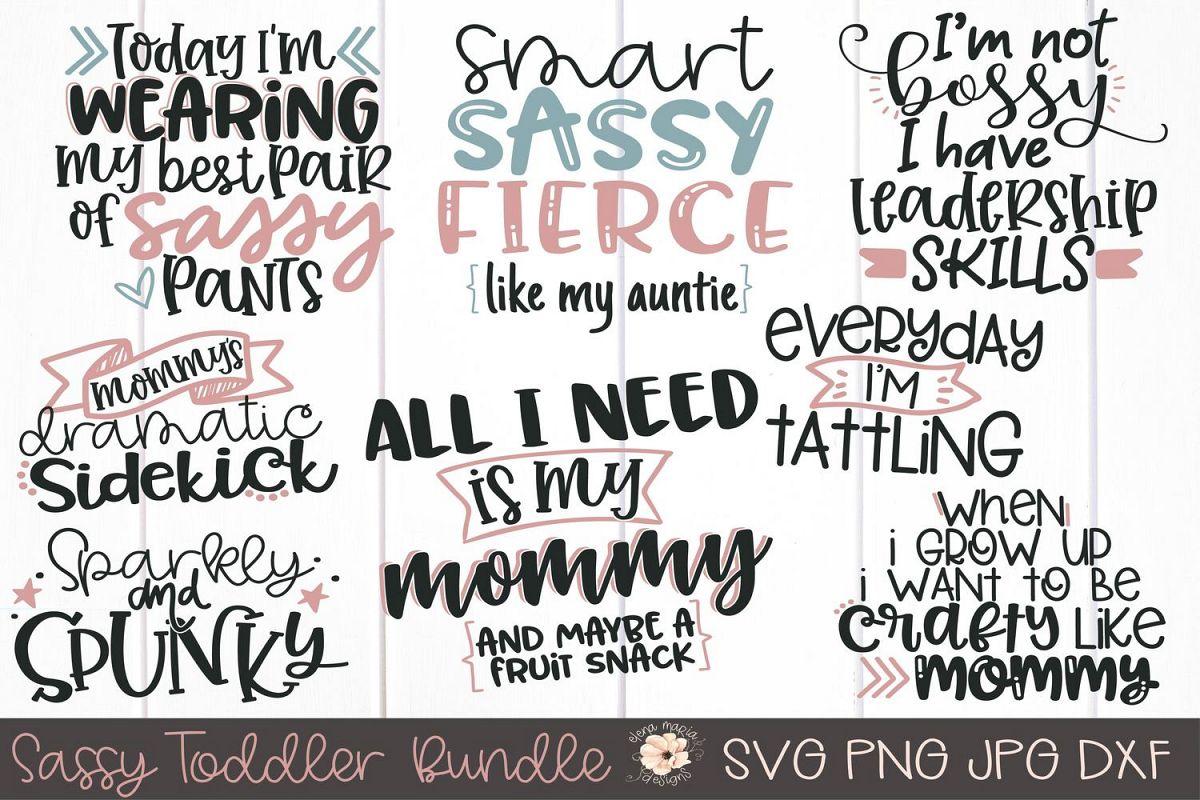 Sassy Toddler Girl Svg Bundle | Shirt Bundle | Mom Cut File example image 1
