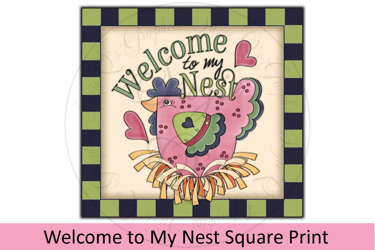 Welcome to My Nest Square Print example image 1