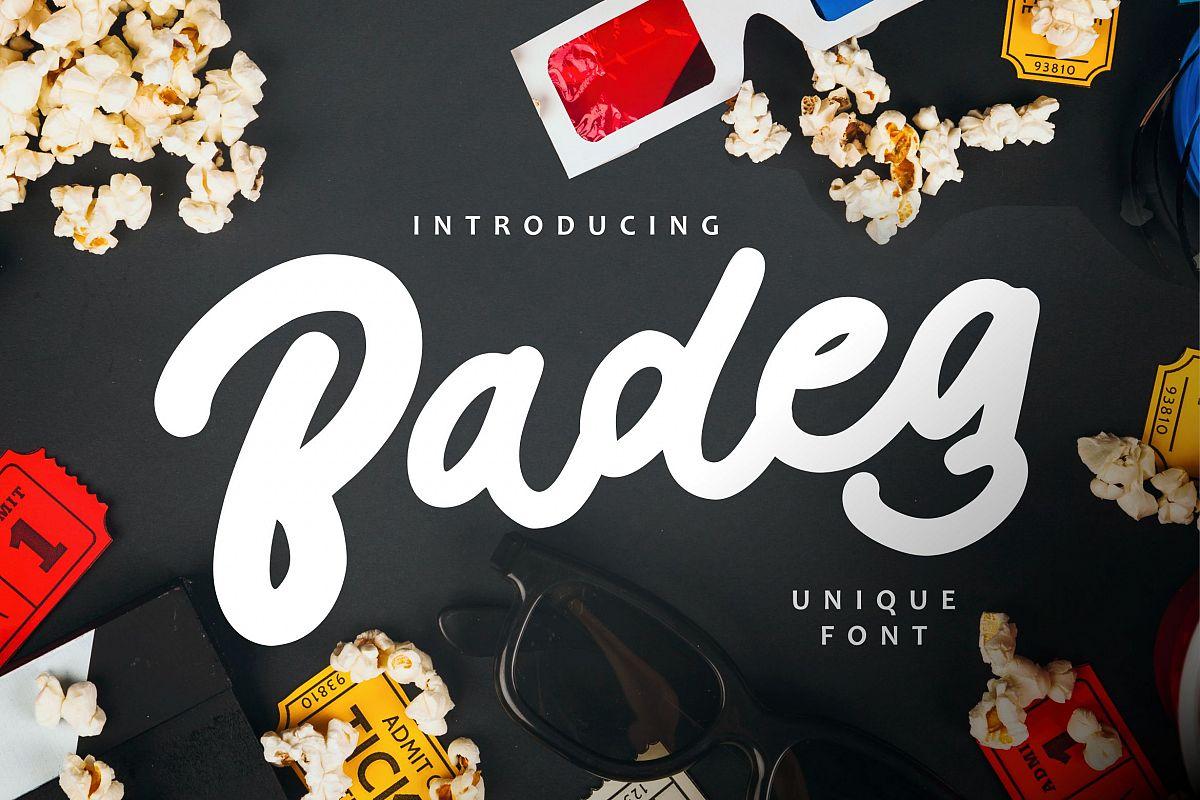 Badeg - Unique Font example image 1