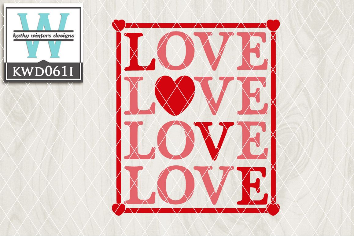 Valentines Cutting File KWD061I example image 1