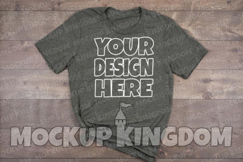 Unisex Crew Neck Shirt Mockup, Bella Canvas Mockup example image 1