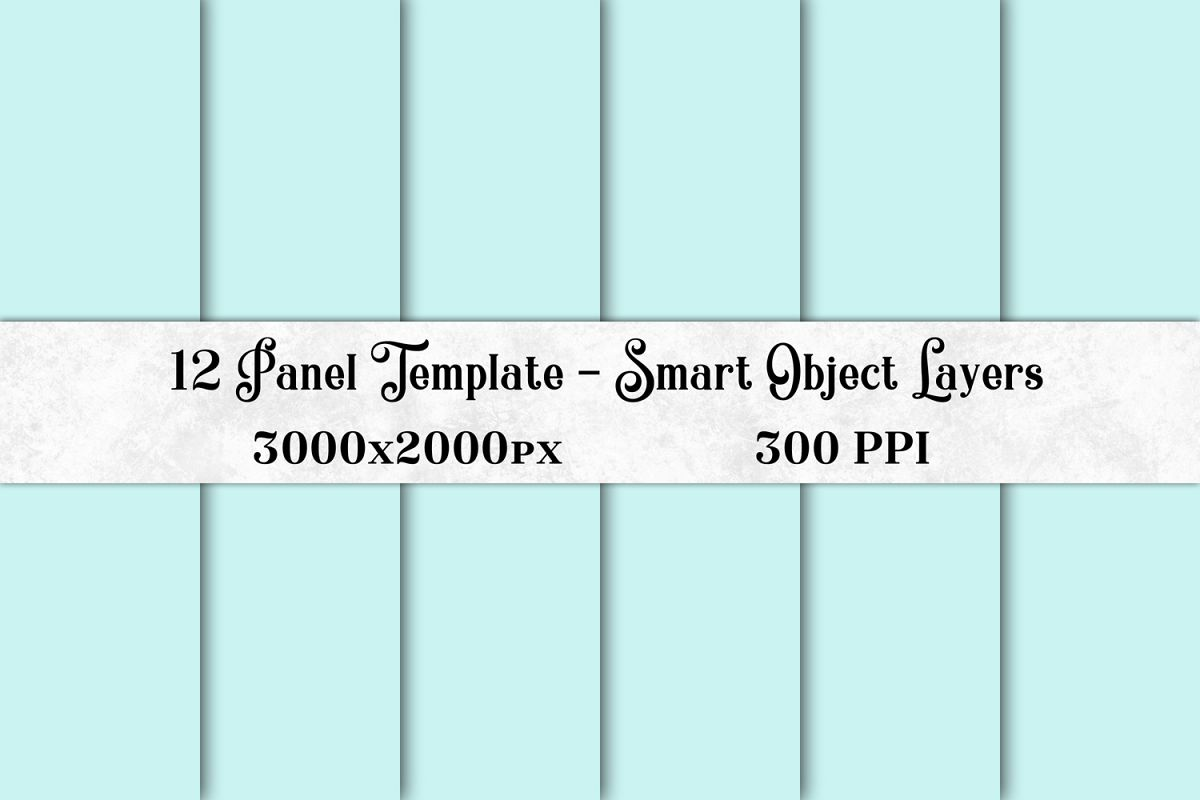 12 Panel Template with Smart Object Layers example image 1