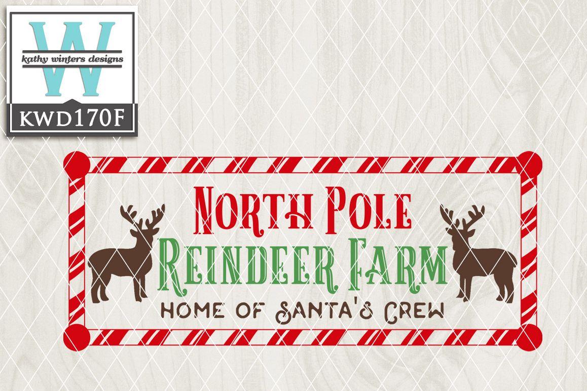 Christmas SVG - Reindeer Farm KWD170F example image 1