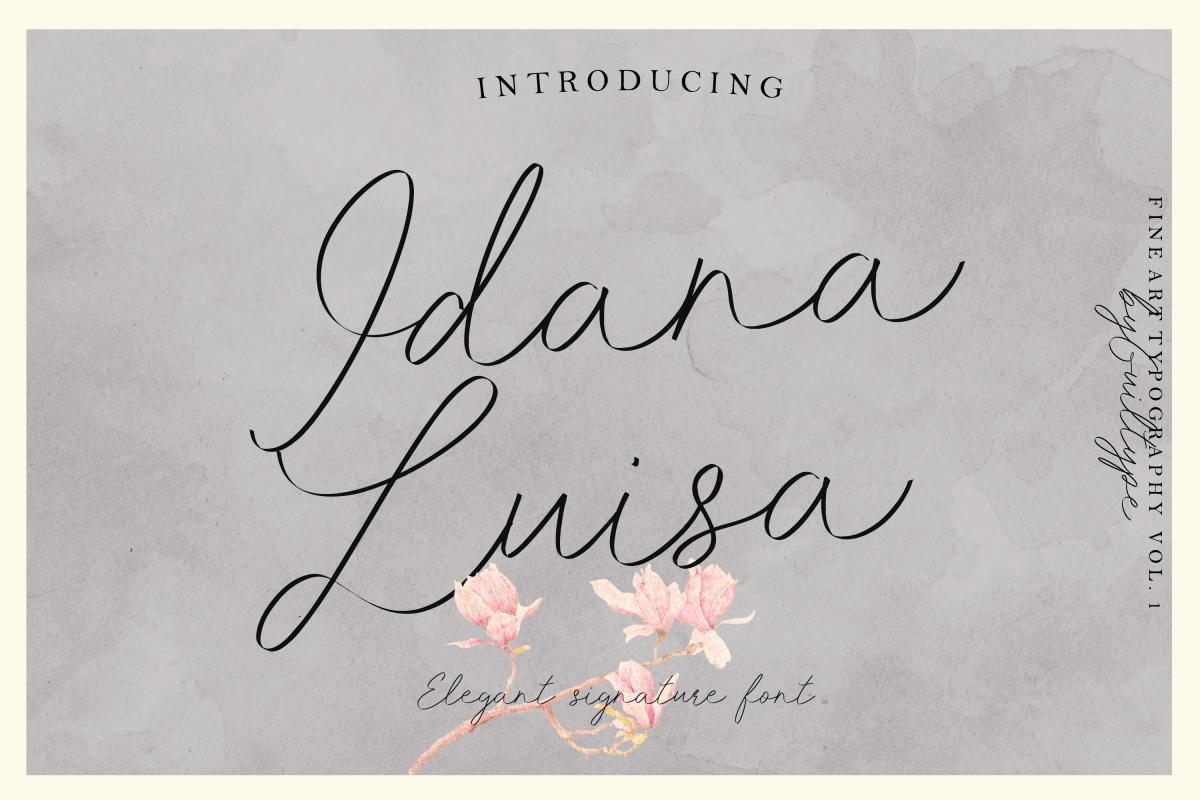 Idana Luisa Script example image 1