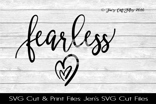 Fearless Hearts SVG Cut File example image 1