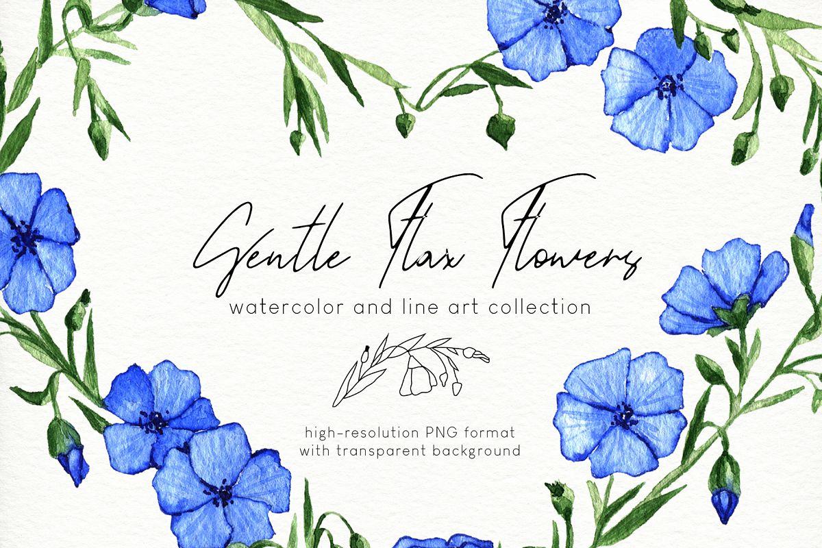 Gentle Flax Flowers example image 1