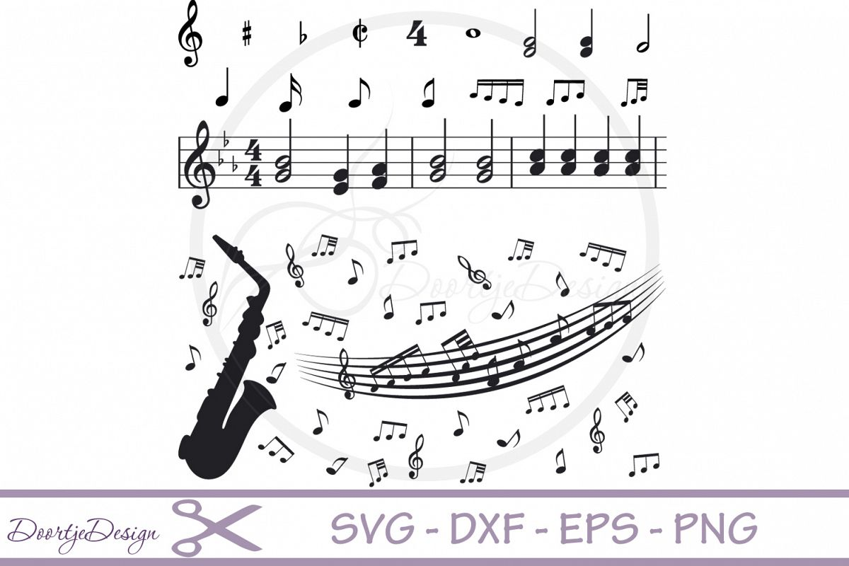 Music Notes SVG cut files example image 1