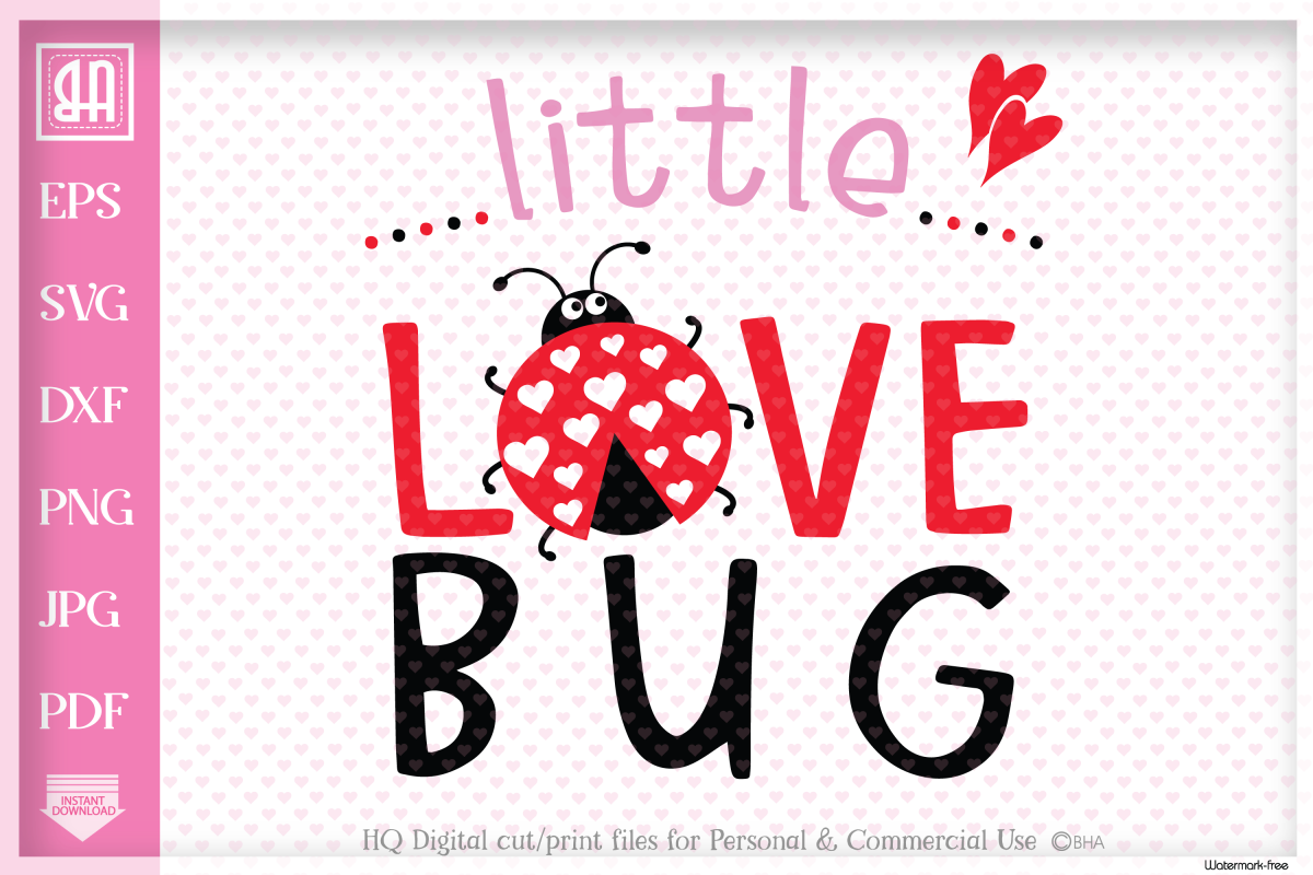 Little love bug SVG, Little bug SVG, Valentine's day SVG