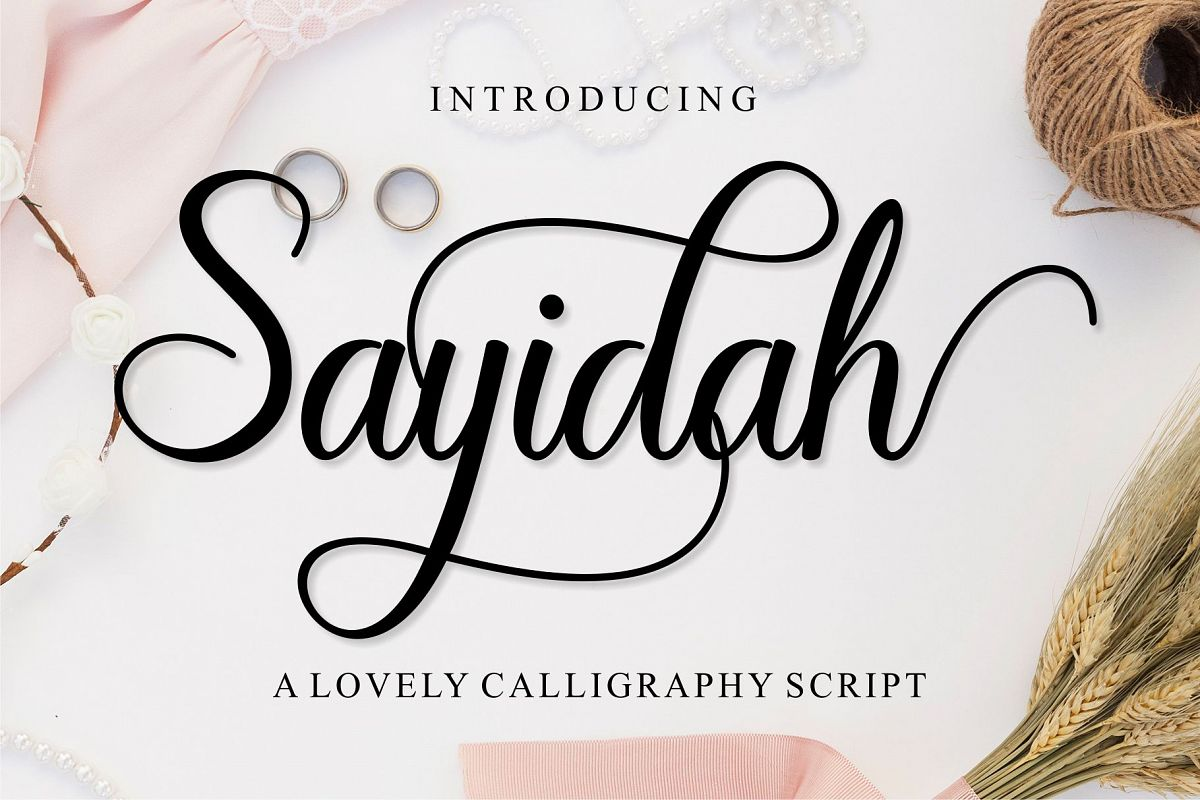 Sayidah Lovely Script example image 1