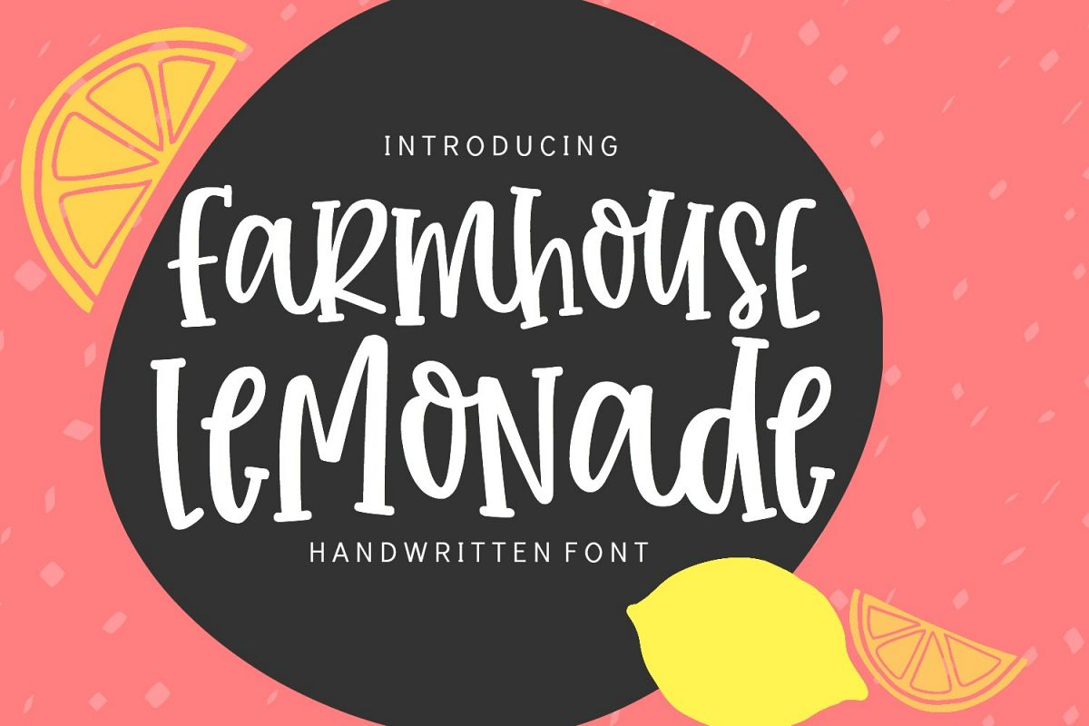 Farmhouse Lemonade - Handwritten Font example image 1