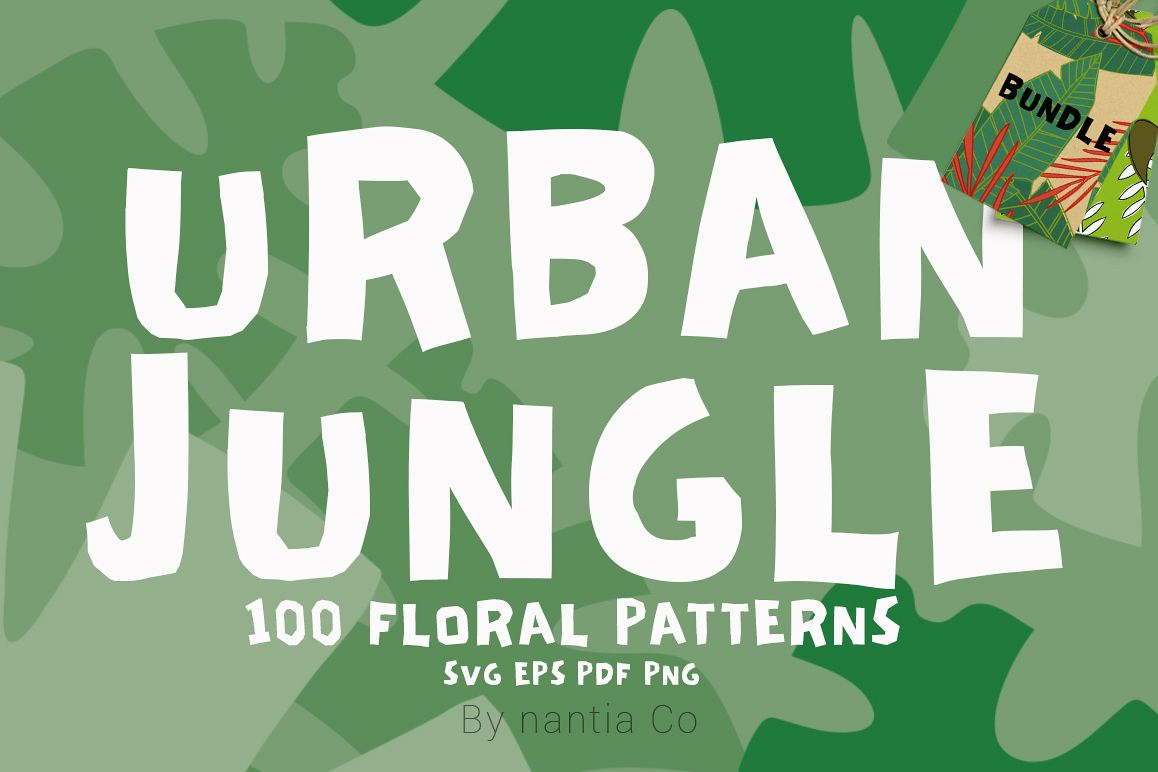 100 Urban Jungle Patterns-Bundle example image 1
