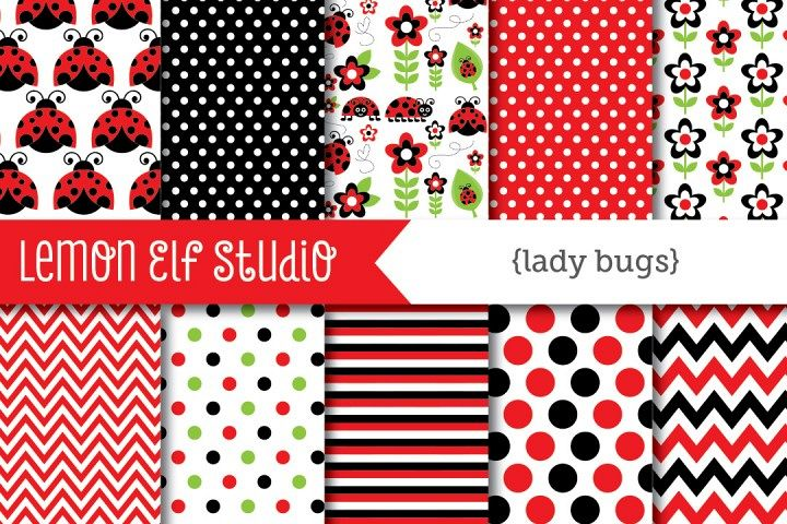 Lady Bugs-Digital Paper (LES.DP09A) example image 1