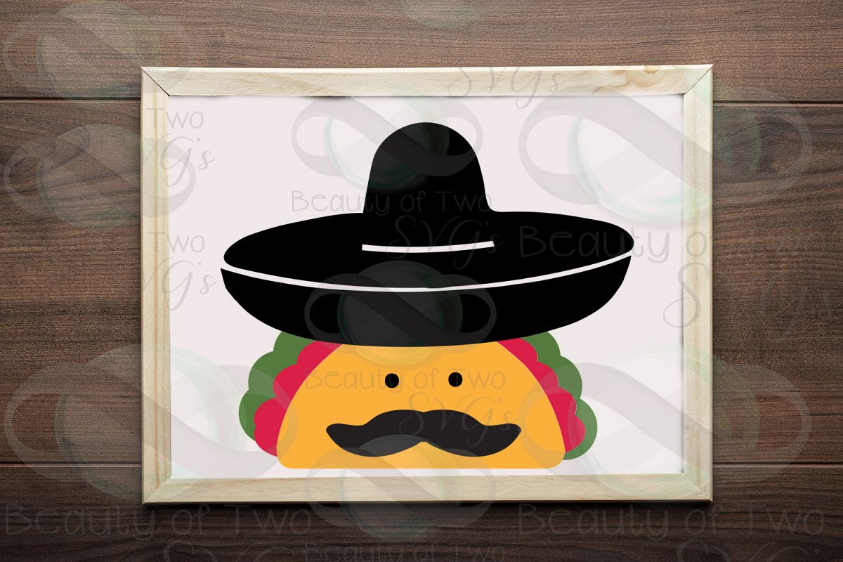 Cinco de Mayo taco svg & png, taco svg, sombrero svg example image 1
