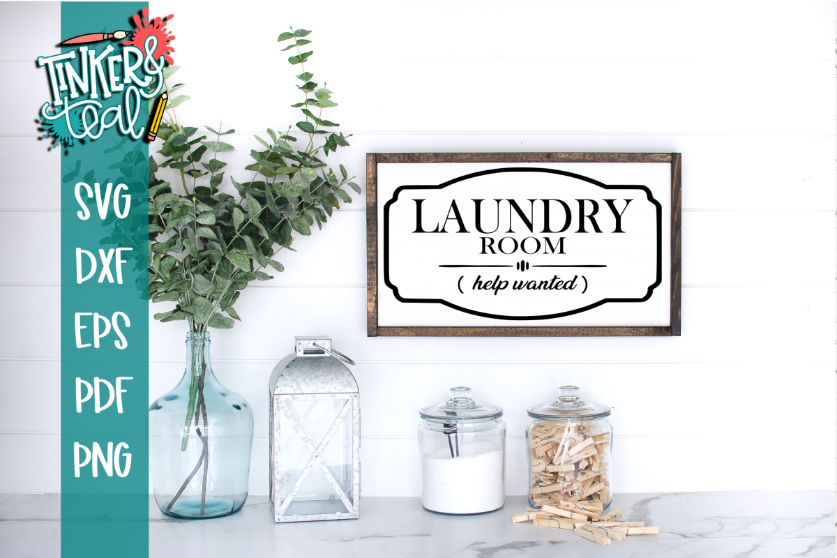 Laundry Room Help Wanted Funny Farmhouse SVG example image 1