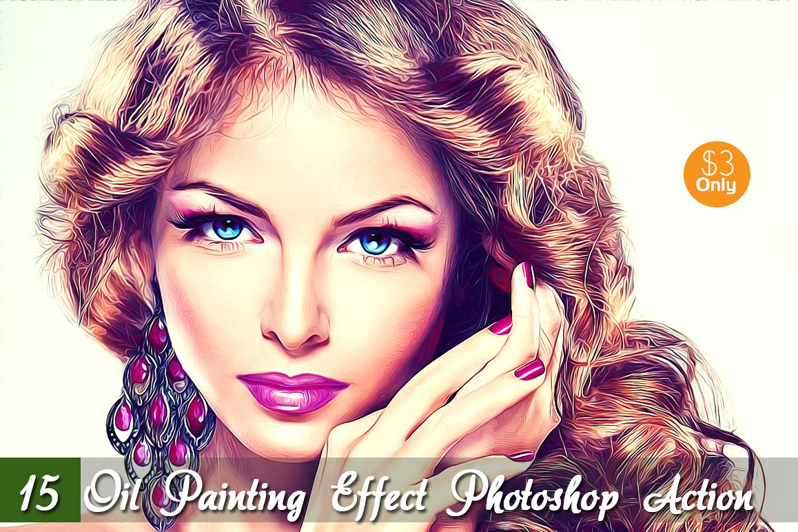 15  Oil Painting Effect - Photoshop Action example image 1