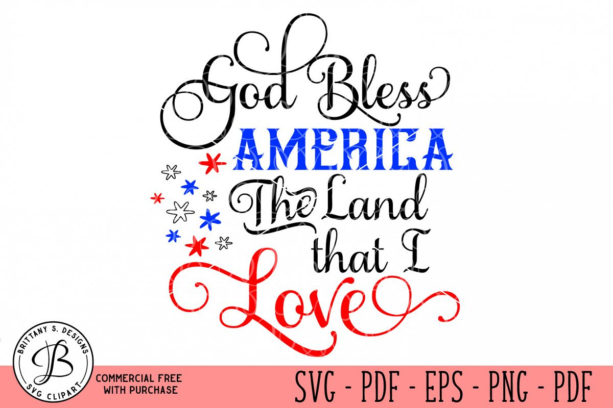God Bless America SVG example image 1