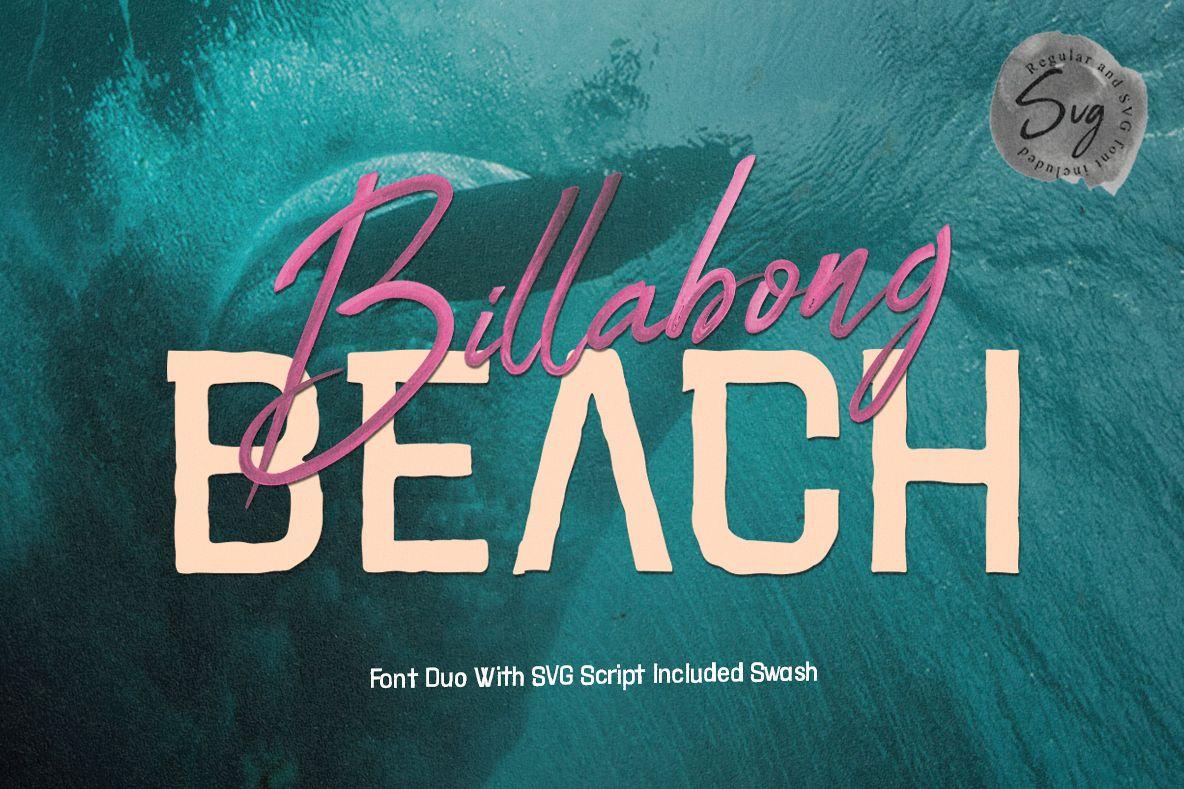 Billabong Beach SVG Font Duo example image 1