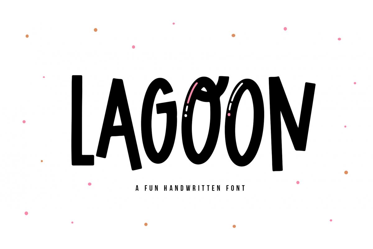 Lagoon - A Fun Handwritten Font example image 1