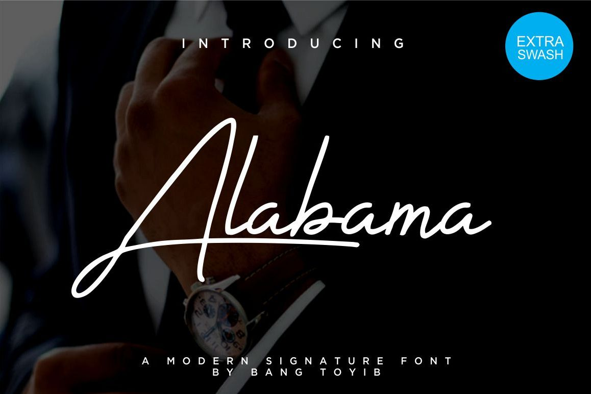 Alabama - Signature Font example image 1
