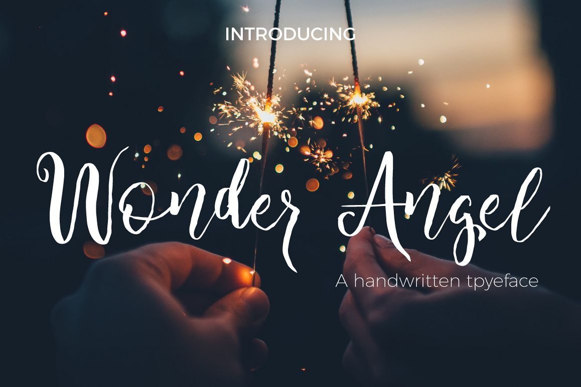 Wonder Angel Script Font example image 1