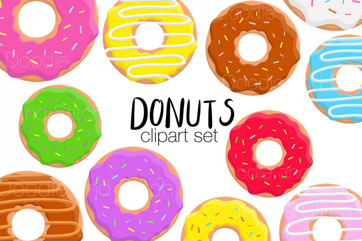 Donut Clipart Illustrations example image 1