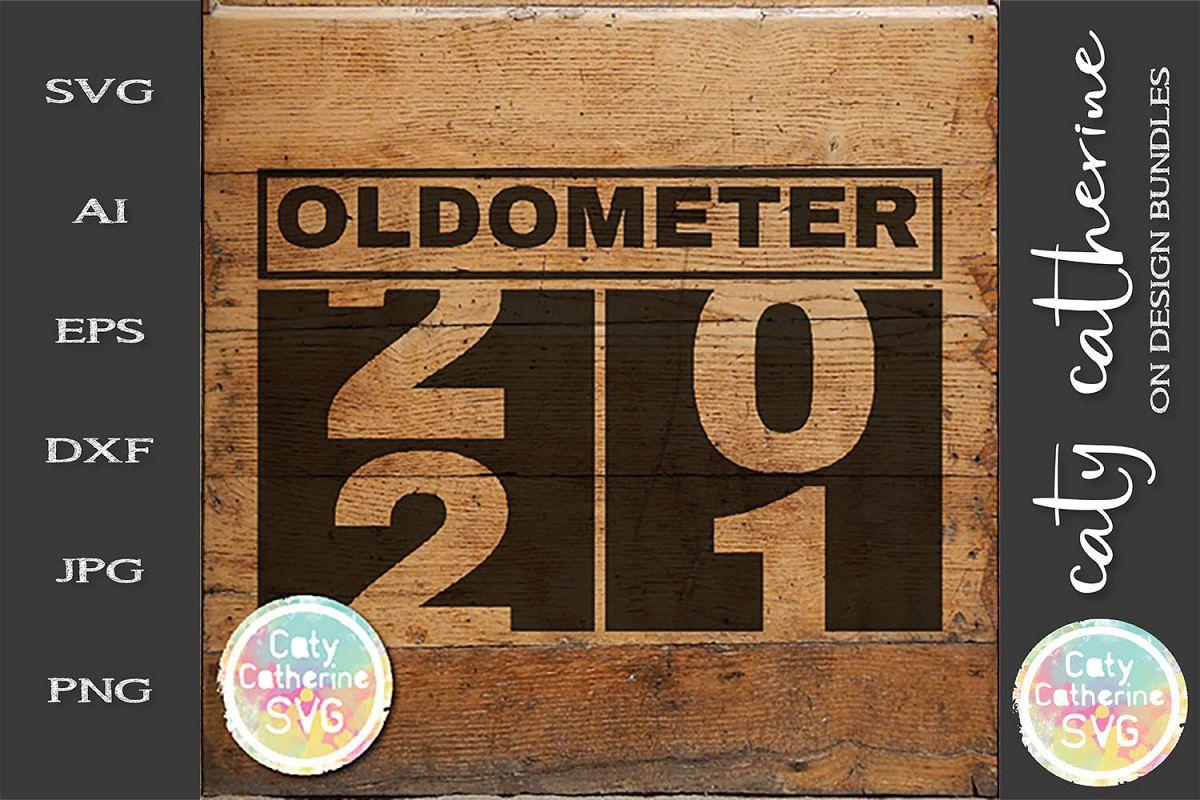 21 Twenty First Birthday Oldometer SVG Cut File example image 1