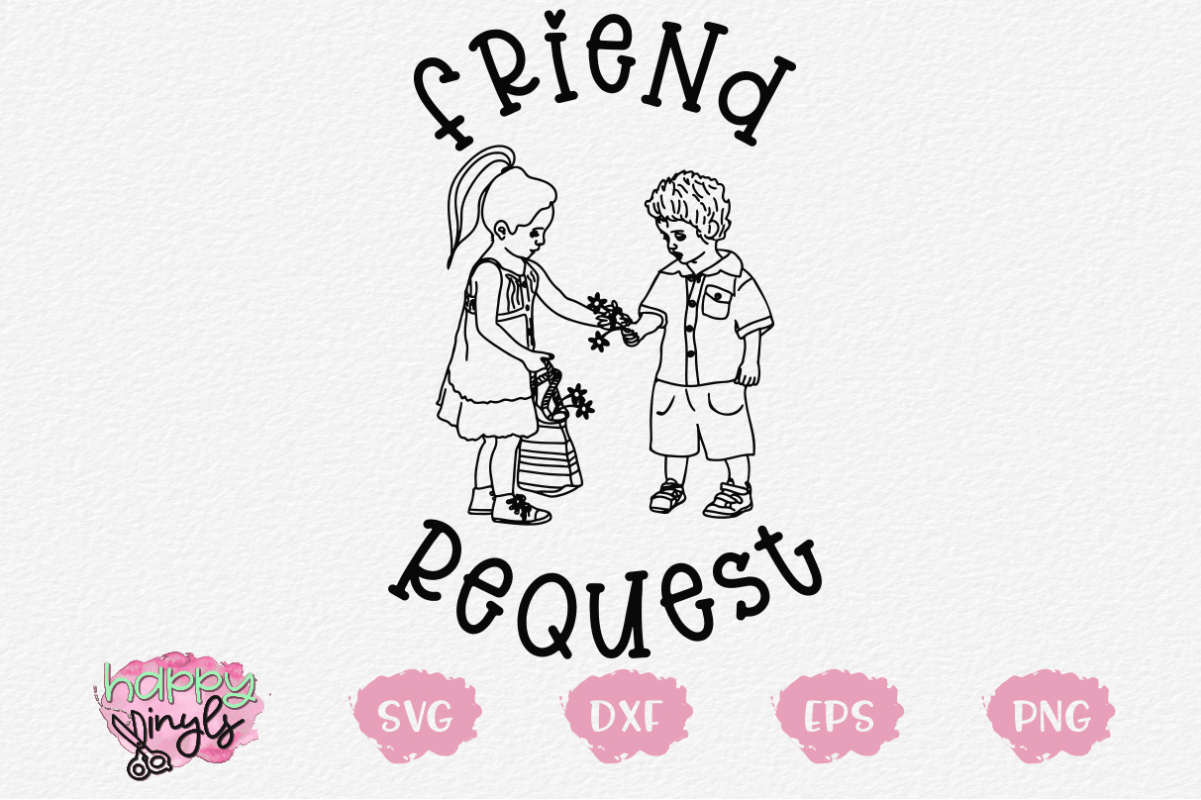 Friend Request - A Whimsical SVG example image 1