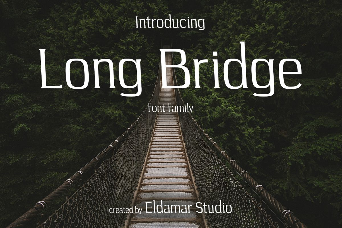 Long Bridge Font example image 1