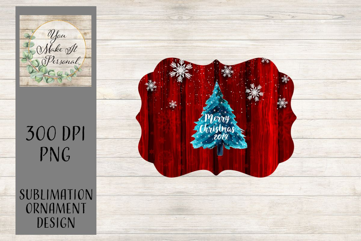Sublimation Ornament Template - Benelux Ornament - Christmas example image 1