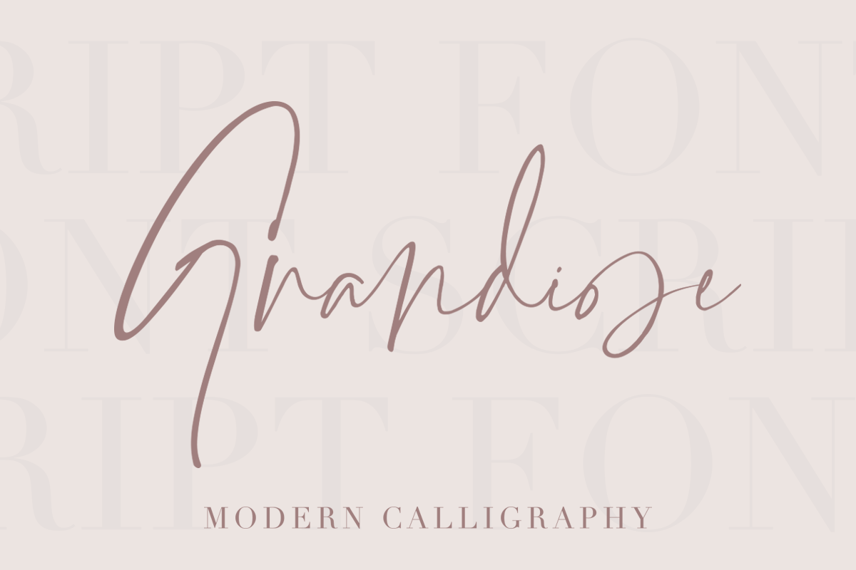 Grandiose - Stylish Signature Font example image 1