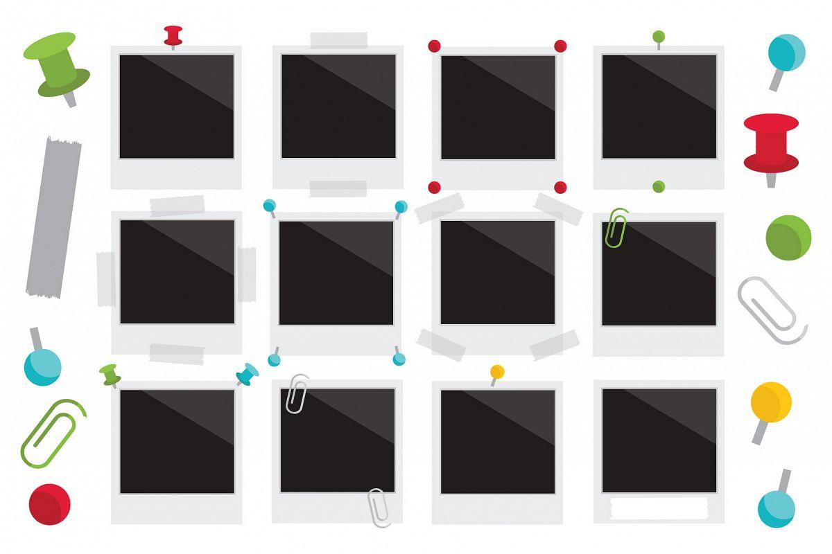 Classic Instant Film Clip Art Set example image 1