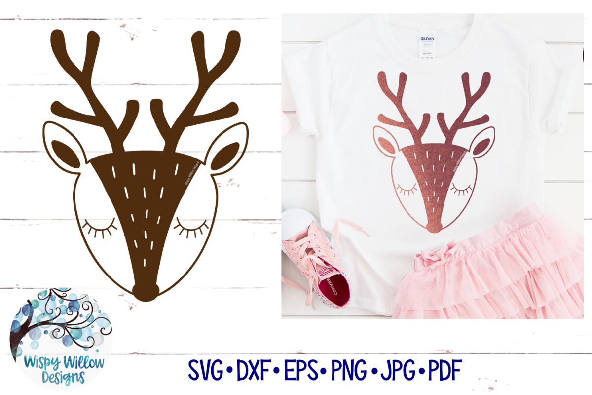 Deer SVG | Simple Scandanavian Deer SVG Cut File example image 1