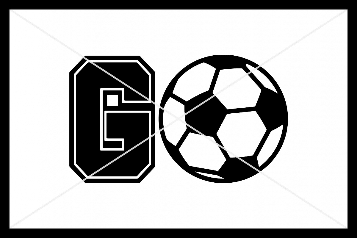 GO Soccer, Cut File, Silhouette Cameo, Cricut, SVG DXF PNG example image 1